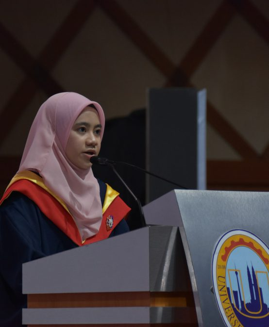 Speech by Siti Sarah Shamsul Anuar, Chancellor Award Recipient