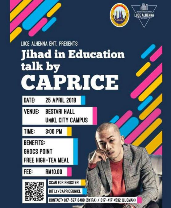 Jihad in Education talk by CAPRICE