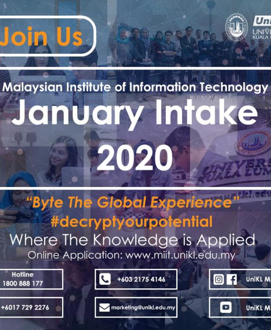 January Intake 2020 (Bachelor Programmes)