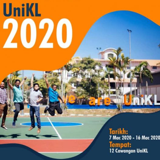 "Jom Masuk UniKL"" Consultation Week from 7 – 16 March 2020, 9.00 am – 5.00 pm."