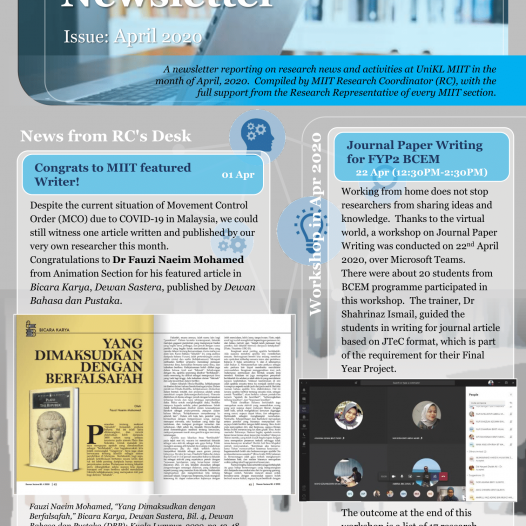 MIIT Research Newsletter April 2020