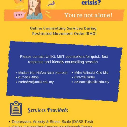 Online Counseling Services During Restricted Movement Order