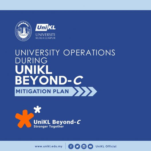 UniKL Beyond-C in brief. Please be informed that this is a temporary measure until further MCO announcement and the Covid-19 pandemic is under control.