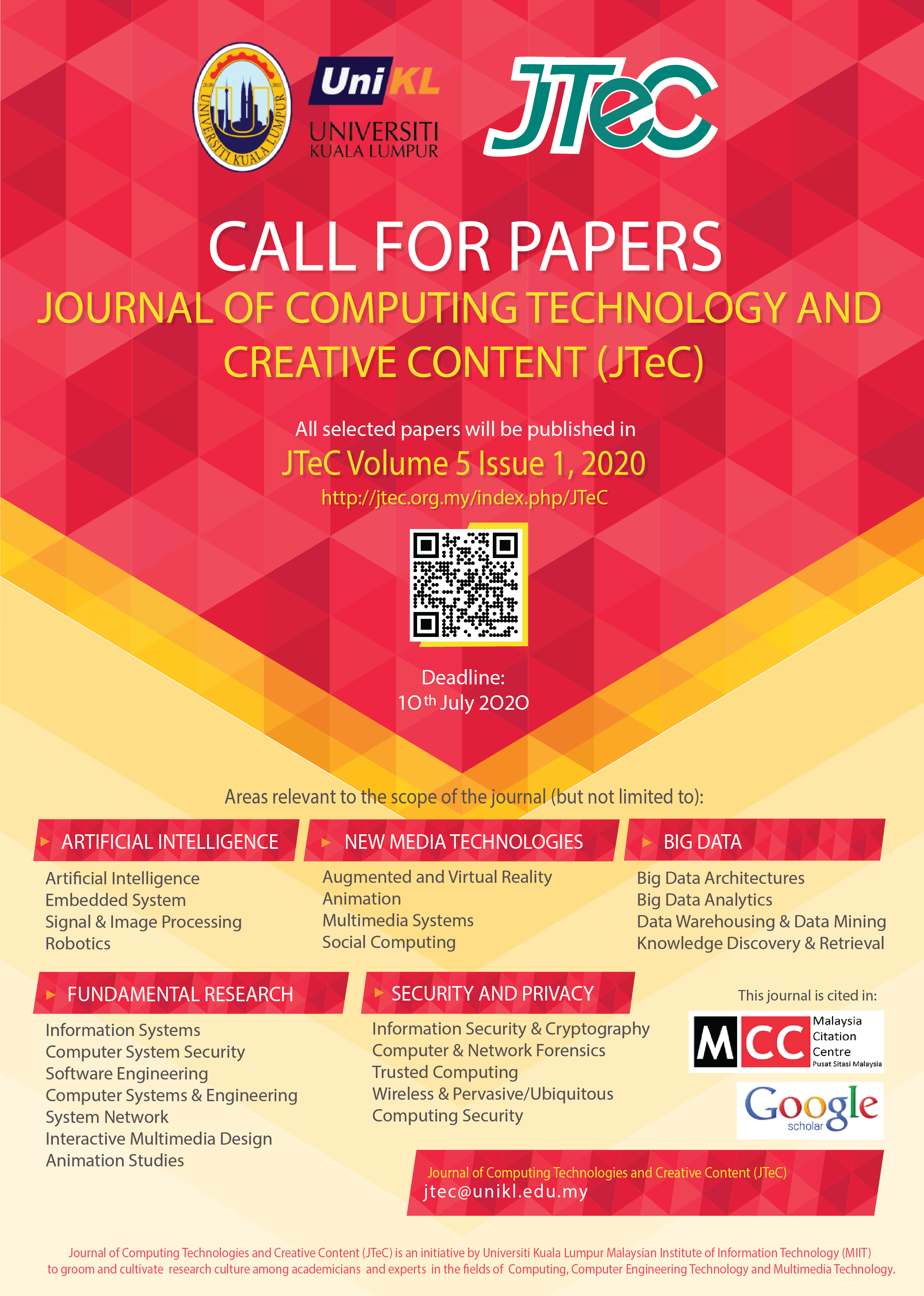 Call For Papers JTeC