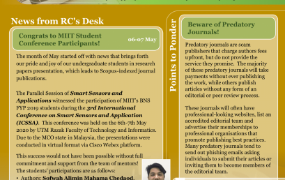 MIIT Research Newsletter May 2020
